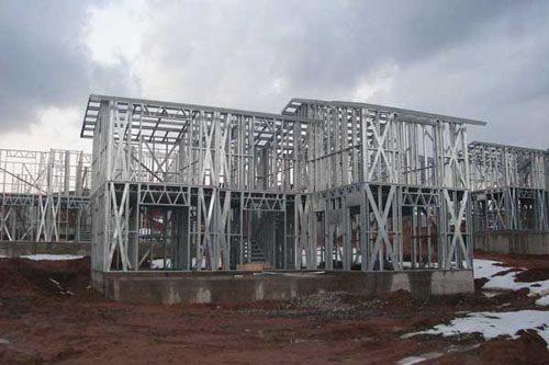 Здания на основе облегчённого металлического каркаса в Калтане